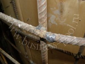 Фото: Применение сварки вместо соединения вязальной проволокой
