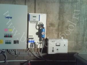 Фото: Монтаж оборудования бетонного бассейна