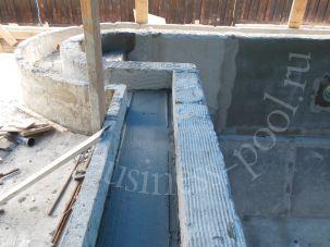 Фото: Выравнивание поверхности бетонного бассейна