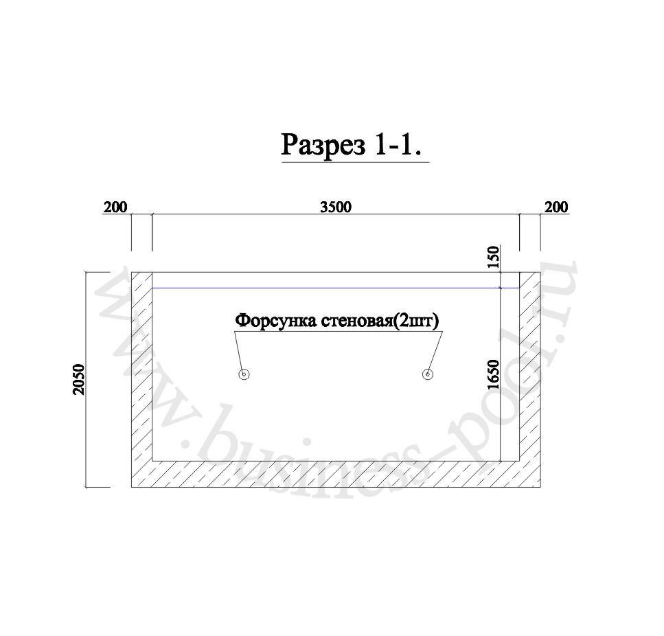 П-003/с  Разрез 1-1