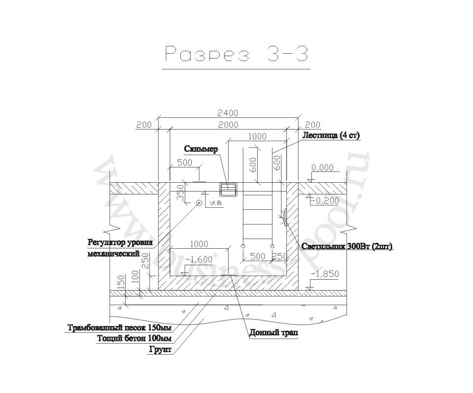 П-004/с Разрез 3-3
