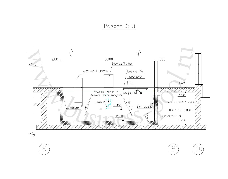 Разрез 3-3 тз-0034-с