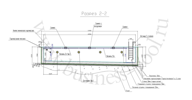 Разрез 2-2 тз-0039-с